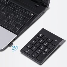 2.4G USB Numeric Keypad Wireless Number Pad 18 Keys Mini Digital Keyboard for Laptop PC Notebook Desktop XXM(China)
