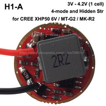 H1-A 20mm 3A 1-cell 5-Mode Boost Driver Circuit Board for Cree XHP50 6V / MT-G2 / MK-R2 ( 1 pc )(China)