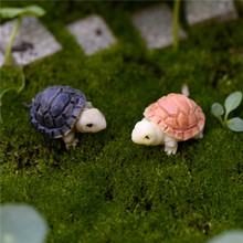 2pcs Mini Tortoise Model Fairy Garden Miniatures DIY Doll House  Terrarium Home Desktop Succulents Micro Landscape Decoration