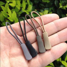 5pcs Easy Use Black Plastic Zipper Pulls Cord Rope Ends Lock Zip Clip Buckle For Clothing Accessories