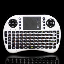 Russian 2.4GHz Mini pocket Wireless Keyboard,gaming mouse, Handheld Keyboard with Battery, Touchpad for HTPC, Mini PC, TV Box