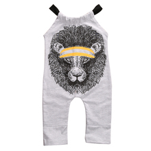 Buy New Baby Kids Boy Girls Romper Infant Cotton Sleeveless Lion Printed Romper Jumpsuit Cotton Clothes Outfits for $4.35 in AliExpress store