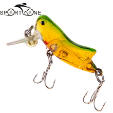 Locust Insect Shape Fishing Lure With Treble Hooks Crankbait Minnow Fishing Lures Hard Bait Grasshopper Fishing Tackle 3g 4cm