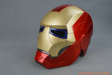 1:1 Iron Man Motorcycle Helmet Mask Tony Stark Mark 7 Cosplay 1/1 Mask with LED Light Collection Model For Adult and Teen(China)