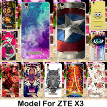 Silicone Phone Cases For ZTE Blade X3 D2 T620 5.0 inch Blade D2 Blade T620 Cases Shell Cover Gel Phone Skin Bag Painted Soft TPU