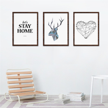 HAOCHU Nordic Abstract Canvas Fabric Painting Typography Love Quote Print Wall Pictures Modern Oil Poster No Frame Home Decor