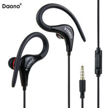 sport earphone bass Music Headset Stereo handsfree Headphones with Mic 3.5mm Earbuds for All Mobile Phone Tablet MP3
