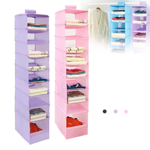 FILBAKE 9 Layer Foldable Oxford Organizadores Storage Box Vacuum Bag Washable Collection Hanging Shelves Closet Shoe Organizer(China)