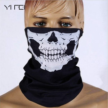 YIFEI Halloween Skull Skeleton Mask Motorcycle Bicycle Multi Function Scarf Half Face Mask Cap Neck Ghost Scarf Ski Mask outdoor