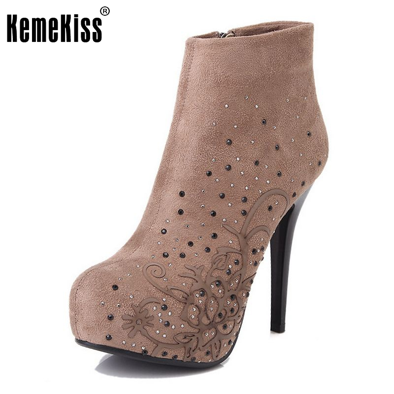 woman ankle boots  winter warm women lady half fashion sexy shot boot high heel shoes P2911 size 34-39<br><br>Aliexpress