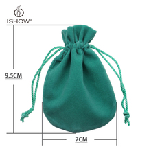 new Velvet bag Packing Bag Jewelry Accessories Mint Green Pink Coffee Gift Packing & Display Factory Sale Jewelry friend's gift(China)