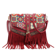 Small Shoulder Bags For Women 2017 Tassels Women Messenger Bags Vintage Leather Zipper Clutch Bag Crossbody Bags For Women Mini