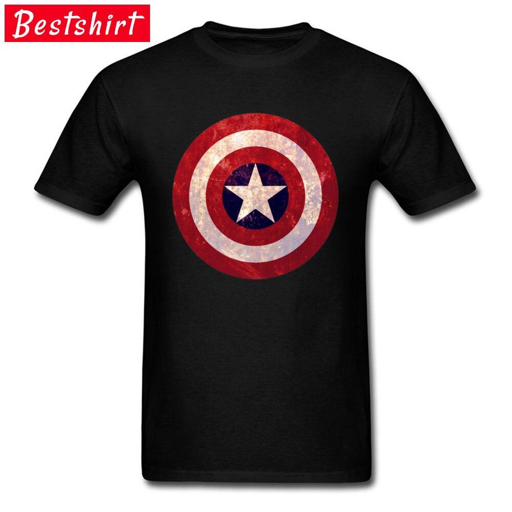 Captain america C Pure Cotton Tshirts for Men Short Sleeve T Shirt 2018 Fashion April FOOL DAY O-Neck Top T-shirts Fitness Tight Captain america C black