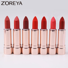 Zoreya Brand colorful Waterproof Long-lasting Lipstick Beauty Cosmetic Tools For Makeup 7 Colors Available(China)