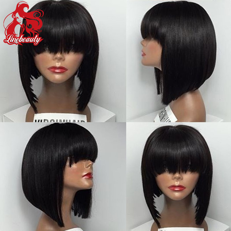 Cheap Sale Top Quality Heat Resistant Hair Wigs Short Bob Wigs Glueless Synthetic Lace Front Wigs None Lace Wigs Hot Selling<br><br>Aliexpress