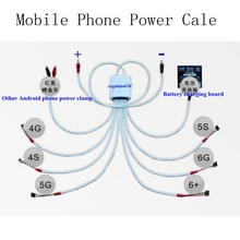 8 in 1 Mobile Phone Repair Current Test Power Data Cable for iPhone DC Power Supply Professional