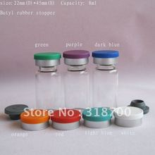 8ml glass bottle with flip off cap, sample vial,cosmetic container,2ml,3ml,5ml,till 30ml is available(China)