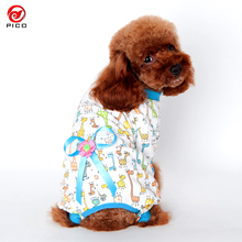 Cotton Small Dog Jumpsuit Cartoon Printed pet dog Pajamas puppy Coat Shirt S-XXL size Teddy Small Dogs Clothes ZL264