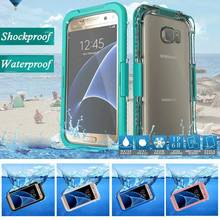 Waterproof Swimming Diving Case Cover for Samsung Galaxy Note 7 5 4 S6 S6 Edge Plus S7 S7 Edge  Plastic + Silicone Capa Fundas
