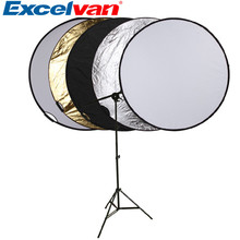 "5-in-1 110cm 43"" Portable Collapsible Light Round Photography Reflector for Studio Multi Photo Disc(China)"