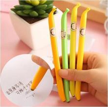 Creative School Supplies Cartoon Banana Style Pen Stationery Supplier Unisex Water-based For Students Gifts 12pcs/lot Arc691