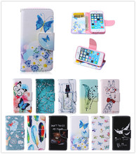 For Apple iPhone SE 5 5S Case Duplex Luxury Painting TPU Back Box Stand Wallet Slot Magnetic Flip Phone Leather Case For Apple 5