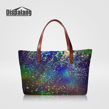 Dispalang Unique Design Tote Hand Bags For Women Universe Space Ladies Portable Travel Shoulder Bag Girls Party Top-handle Bags(China)