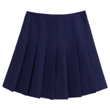 Women Girl High Waist Slim Pleated Tennis Skirt Solid Flared Casual Short Dress(China)