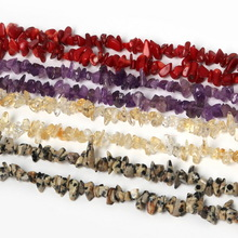 New Arrival 3-5mm Crystal Small Rubble Stone 87cm/strand Natural Stone Chips Beads For DIY Fashion Jewelry Bracelet Craft Making