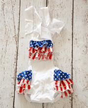 American Patriotic Day Bodysuit,Newborn Baby 1st 4th Of July Outfit,Baby Bubble Sunnysuit,Baby Clothing