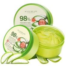 Natural Aloe Vera Smooth Gel Acne Treatment Face Cream for Hydrating Moist Repair After Sun Moisturizing Whitening Mask
