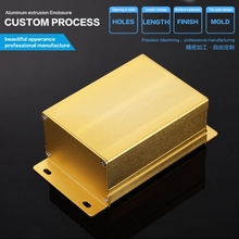 YGS-004-5 76*46*100/2.99''*1.81''*3.93''(wxhxl)mm gold aluminum battery pack enclosure best design for you