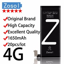 20pcs/lot Zosol - Original Brand Genuine High Capacity 1650mAh AAAAA Quality Battery for iPhone 4 4G 3.7V Replacement Inter(China)
