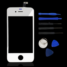 Best Quality Front Glass Lens + Touch Screen Digitizer (No LCD) Panel LENS Repair For Apple iPhone 4 4G 4S + Tools