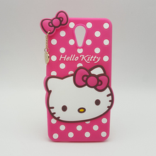 Cute 3D Cartoon Hello Kitty Polka Dot Soft Silicone Case For HTC Desire 620 620G silicon Fundas Rubber  Cover phone cases