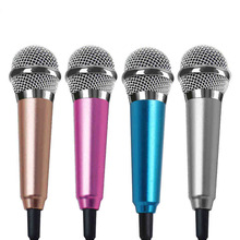 3.5mm audio plug Wired Mini Microphone with Stand Portable Stereo Condenser Mic for Chatting/Singing/Karaoke/PC/ Phone/Ipad etc