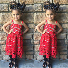 2017 Summer Toddler Kids Baby Girls Lace Dress Princess Party Pageant Holiday Dresses