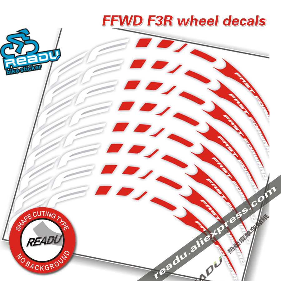 FFWD F3R road Bicycle wheel Group stickers F3R Replacement Sticker Decal Depth 20mm frame height 30mm bike decals
