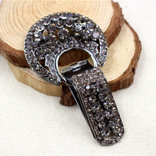 16010813,1 pcs, very beautiful fashion Fur buttons, coat buttons. Rhinestone buttons. Platypus glass with a diamond buckle.