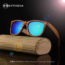 KITHDIA Polarized Zebra Wood Sunglasses Men Women Hand Made Vintage Wooden Frame Male Driving Sun Glasses Shades Gafas With Box