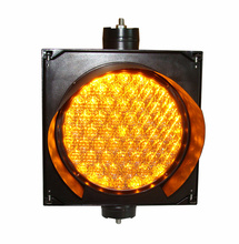 8 inch amber/yellow traffic signal light with flashing hot sale
