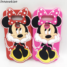 Hot 3D Silicone Red Pink Minnie Mouse Cartoon Style Soft Cell Phone Back Skin Cover Case For LG G5 H850 G4 H815 H818 K7 K10(China)