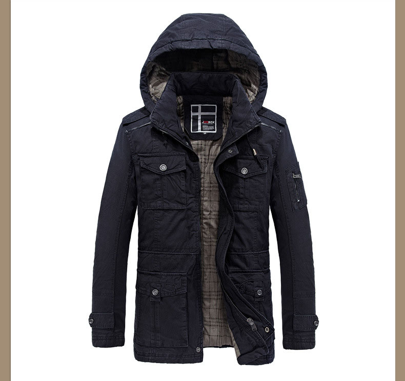 2017 Warm Men's Jacket Fashion Plus Size High Quality Casual Thicken Winter Jacket Men Plus Size Coat Casaco Masculino DY5F8994