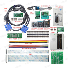RT809F Programmer Electronic Kits LCD Universal EPROM FLASH VGA ISP AVR GAL PIC Programmer + PEB-1 Expansion board+FFC Line