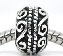 Buy DoreenBeads antique silver Pattern Spacer Beads Fit European Charm 11x9mm,20PCs, 2015 new for $2.90 in AliExpress store