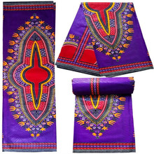 6yards/pcs Purple With Red Angelina Dashik african wax print fabric ankara java wax quilts for sewing african daily dress Q10-27