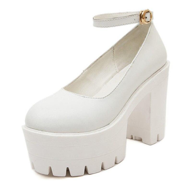 Black Thick Heel High Hees Shoes Women Black Platform Shoes Women Pumps Sexy Ladies Shoes High Heels<br><br>Aliexpress