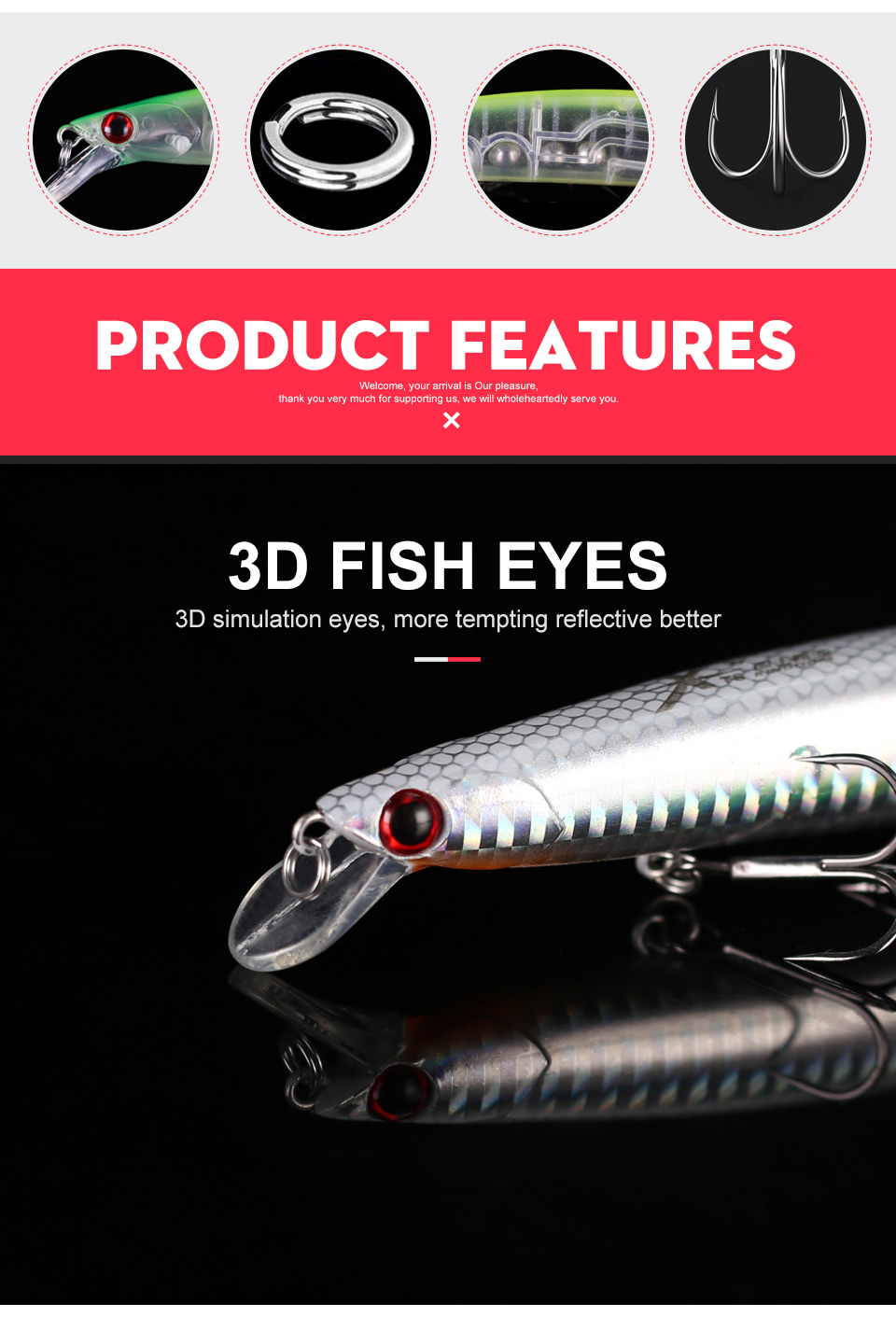 Kingdom 2019 Professional Floating JERKBAIT Fishing Lures 125mm 20g Wobblers Minnow Hard Baits Depth 0.2-0.4m Bass Pike Bait Lure (4)