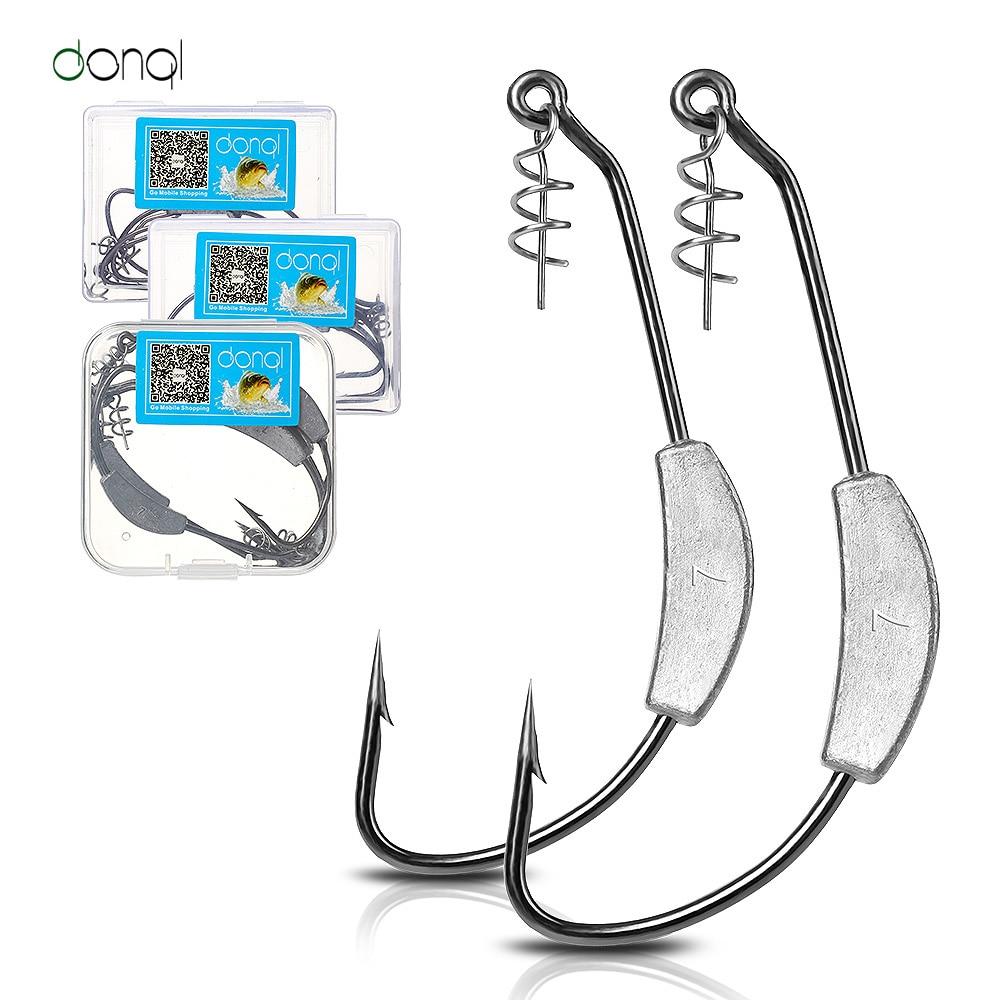 Lot 10 Pcs Bass High Carbon Steel Fishing Hook Lead Head Sharp Fishhook Jig Box