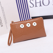 PU leather snap button jewelry Cosmetic bag QB618 (fit 18mm 20mm snaps)(China)